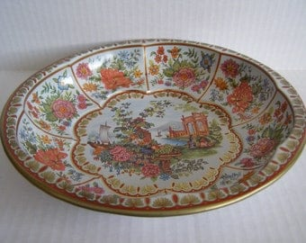 Vintage Metal Daher Bowl Dish England 1971 Decorated Ware