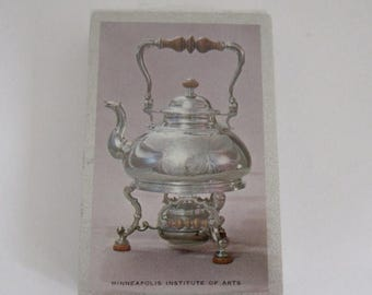 ON SALE- vintage tea kettle Minneapolis Institute of Arts deck of picture playing cards in original wrapping packaging NIB