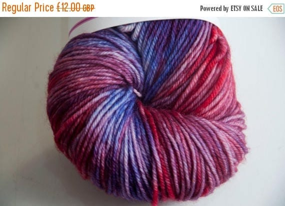 Christmas In July Hand-Dyed Fireworks Colourway DK Yarn Superwash Polwarth Bounce Base