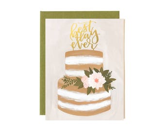 Wedding Best Day Ever // Illustrated Card // 1canoe2