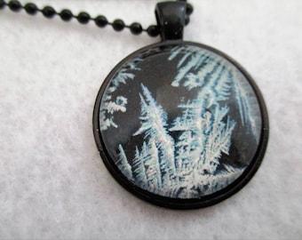 ICE CRYSTALS Cabochon PENDANT Necklace
