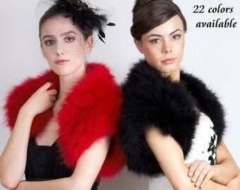Promo Sale: Stylish Marabou  Feather.Shrug/ Sizes XS -  2X/ 22 colors available
