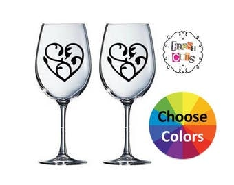 Wine Glass Decal Etsy - Custom vinyl decals diy