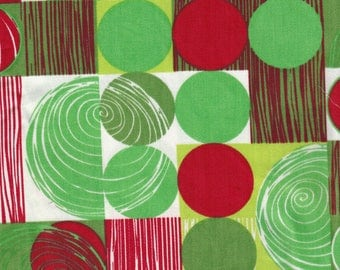 """Sale! Harmony Art Organic Fabric Space Cowboy red and green 12"""" x 36"""" OOP"""
