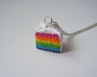 Hand pendant ♥ ♥ Rainbow cake