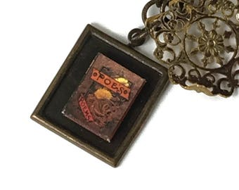 Poe's Poems Edgar Allen Poe Hidden Book Necklace Tiny Readable Book