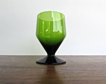 Tamara Aladin ædelgrøn Green Glass for Riihimaki, Geometrical Deep Green Glass, Modern Green Glass
