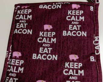 Keep Calm and Eat Bacon Potholder