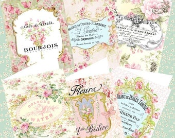 Romantic Stationery Gift Set-Note Cards-Hang Tags-Book Marks