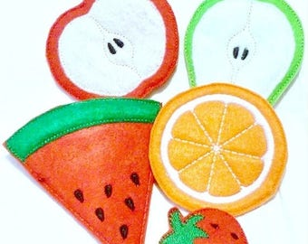 SALE Vegetarian fruit Play food fruit 5 piece set pretend food Pretend food kids play kitchen #PF2558