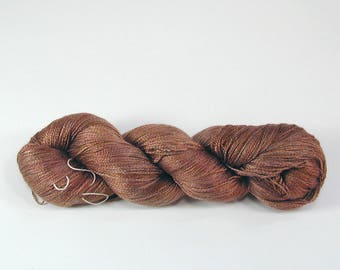 In Stock - SS{l}: Mocha (CW333) on SilkenSea{lace}, 70/30 Mulberry Silk/Seacell Lace Yarn, 800m/100g