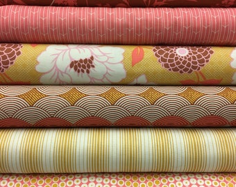 Free Spirit Joel Dewberry Bungalow Fat Quarter Set - 6 Fat Quarters