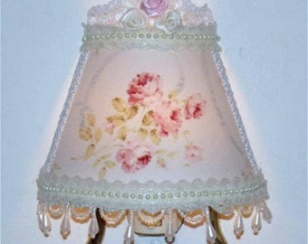 Lt Blue Victorian Vintage-look Lovely Night Light for your Romantic Cottage Chic Decor