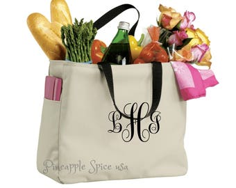 11 Monogrammed Bridesmaid Tote Bags, Personalized Custom Embroidery Wedding Party Gift