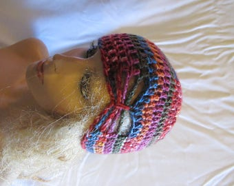 Parrot Butterfly Stitch Accent Beanie/Turban