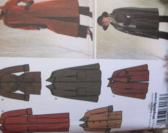 New/Uncut - Simplicity Sewing Pattern 3959 - Lined Coat, Jacket, Cape