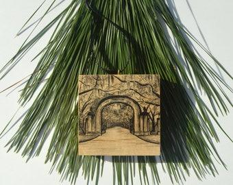 Wormsloe Gate Christmas Ornament