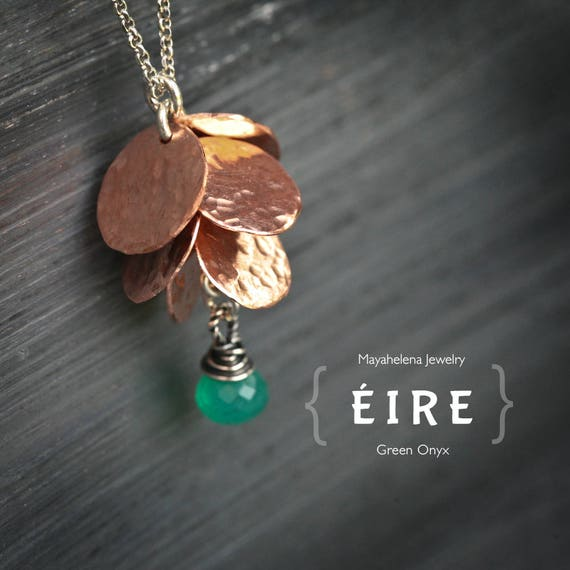 Eire - Copper Coins and Green Onyx Necklace