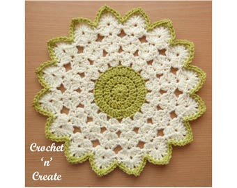 Crochet Round Doily Crochet Pattern (DOWNLOAD) P110