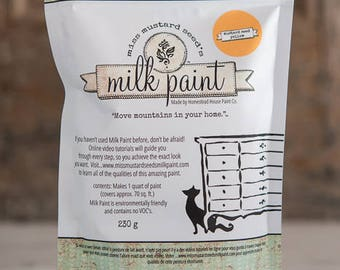 Miss Mustard Seed Milk Paint, 2 Quart Size, Color Mustard Seed Yellow