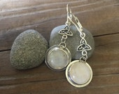 Celtic Moonstone dangle earrings