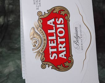 Spiral Notepad from Recycled Stella Artois 6-Pack Beer Carton