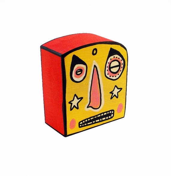 Funk Totem Part No. 259 - Original Mixed Media Block - Vol. 12