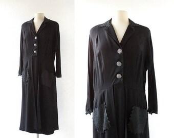 20% off sale Vintage 1950s Dress | Secret Fury | 50s Dress | XL