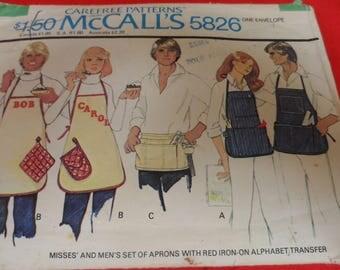 McCalls 5826 Misses and Men's Apron Pattern