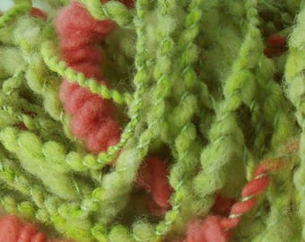 Lemon Fraise: handspun art yarn