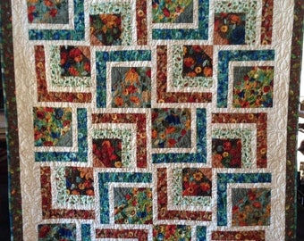 Summer sale Tranquil Dreams 58 x 70 inch art quilt by O.V. Brantley