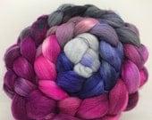 Spinning Fiber Polwarth/Bombyx/Firestar 60/20/20- 5oz - Twilight Orchid 1