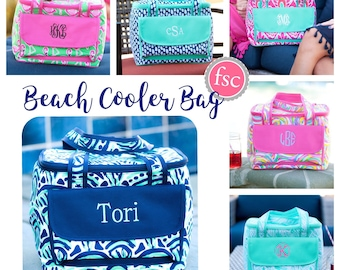Monogrammed Cooler Bag, personalized Cooler Bag , Beach Cooler bag , vacation bag, Bridesmaid gift, Personalized Beach Bag