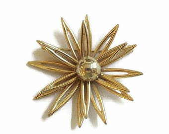 SALE Modernist Atomic Star Brooch Retro Vintage