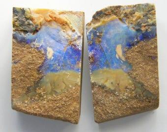 Natural Australian Boulder Opal Split - Item 808171