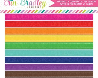 80% OFF SALE Clipart Borders Rainbow Colors Stitched Rectangle Border Digital Clip Art Graphics Commercial Use