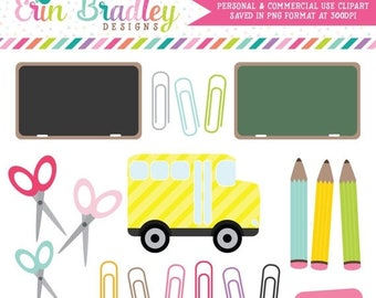 80% OFF SALE School Days Clipart Clip Art for Personal and Commercial Use