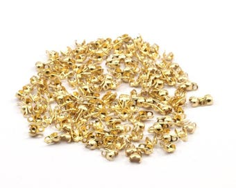 Brass Chain Connector, 100 Raw Brass Ball Chain Connector Clasps (1.2mm) L001