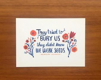 Seeds postcards (set of 20)