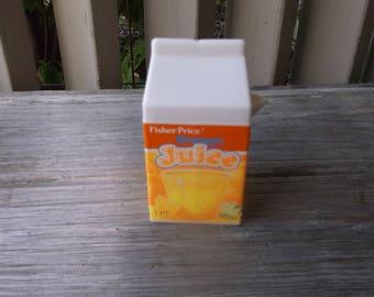 Vintage 1987 Fisher Price Fun Orange Juice Carton