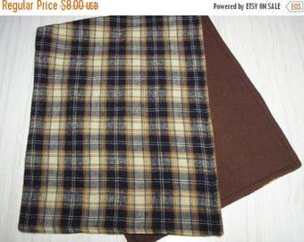 SALE Burp Cloth Gift Set of 2 Flannel Plaid Larger Size