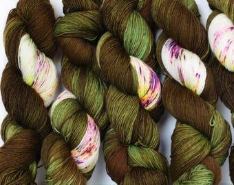 Cherokee Rose 463 yards on 'Posh' Sock Yarn/ 4 ply merino, hand painted sprinkle