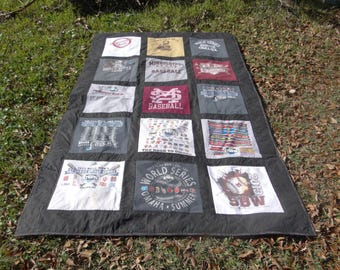 Tshirt Quilt made with your own Tshirts