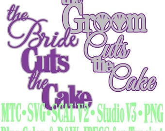 Wedding Cake Bride Groom Cuts Cut Files MTC SVG SCAL Format and more traceable