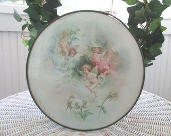 Vintage Flue * Victorian * Cherubs * Florals * Shabby Chic * Cottage * Pink and Aqua * Antique