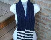 School Colors Scarf in Navy and Bronze