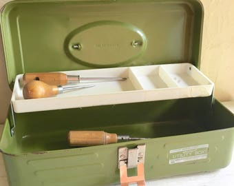 Green Union Metal Tool Storage Toolbox Tackle Box