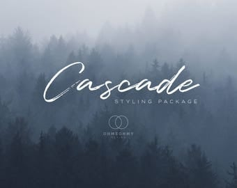 Cascade - Etsy Shop Styling Package with Logo, Cover, Icon, Placeholders - Full Storefront Branding Graphics Set - Dreamy Rustic Woodland