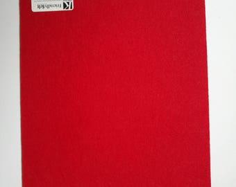 Sheet of stiff felt / stiff red ecofi felt