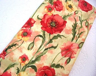 Plastic Bag Holder - Grocery Bag Holder - Kitchen Decor - Beautiful Red Poppies